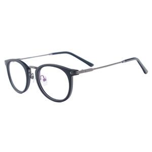 Image 3 - גברים ונשים קל בציר משקפיים עגול פלסטיק מתכת משקפיים עבור מרשם עדשות קוצר ראיה קריאת Multifocal