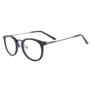 Image 3 - Gafas clásicas ligeras para hombres y mujeres, anteojos redondos de Metal de plástico para gafas de prescripción, lectura de miopía, multifocales