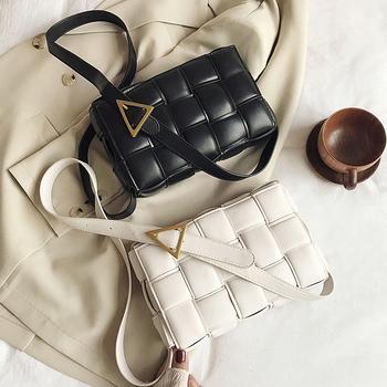 2020 nowa skóra wołowa skórzane torebki Crossbody dla kobiet popularne tkactwo luksusowe torebki damskie torebki projektant torby na ramię torby damskie na zakupy tanie i dobre opinie ECOATUP Flap Na ramię i torby crossbody CN (pochodzenie) Hasp SOFT Klapa kieszeni Moda Skóra syntetyczna Wszechstronny
