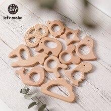 Lassen sie Machen 1pc Holz Spielzeug Nagetier Holz Perlen Für Baby Beißringe Für Zähne Vogel Elefanten Dinosaurier Trojaner Kauen gum PVC Freies