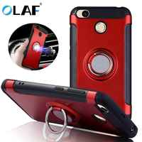Magnetic Suction Phone Case For Xiaomi Redmi 4X 4A mi9 Luxury Ring Holder Cases For Redmi Note 7 6 5 Pro 4X 3 Cover Accessories