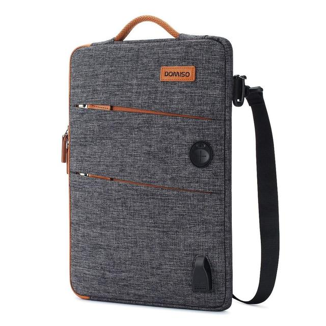 DOMISO 11 13 14 15.6 17.3 Inch Waterproof Laptop Bag Polyester with USB Charging Port Headphone Hole for Lenovo Acer HUAWEI HP