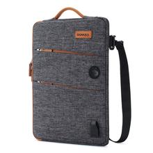 DOMISO sac étanche pour ordinateur portable en Polyester avec Port de chargement USB, trou pour Lenovo Acer, HUAWEI HP, 11 13 14 15.6 17.3 pouces