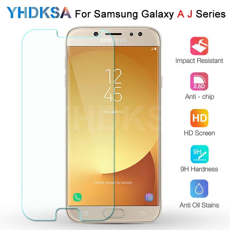 Абсолютная новинка! Премиум закаленное Стекло на samsung Galaxy J3 J5 J7 A3 A5 A7 2015 2016 2017 A6 A8 A9 2018 Экран протектор Защитная пленка HD защитная пленка