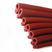 5m Silicone Strip Red Shaped Mushroom Head Sealing Strip High Temperature T-Shaped Silicone Strip for Oven Door Sealing Strip