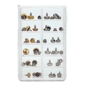 40 шт. прочные металлические короны часов, водонепроницаемые, серебристые, золотистые цвета, в ассортименте, сменные детали для ремонта часо...