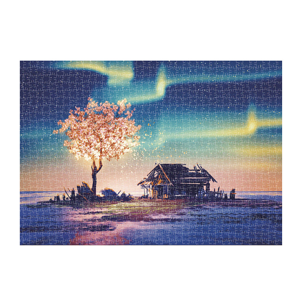 1000 Pieces Jigsaw Puzzle Children's Adult Wooden Puzzle Intelligence Educational Game Toys kids Jigsaw Puzzle toys Stickers 28