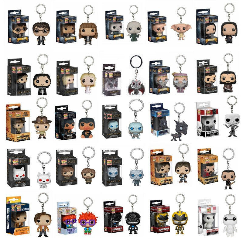 Funko Pop Keychain Action Toy Figures Game Of Thrones Harri Potter Thanos Model Doll Collectible Toys  For Kids Birthday Gift