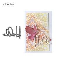 JC Craft Metal Cutting Dies for Scrapbooking Cut Hallo Letter Words Stencil Handmade Paper Card Making Model Decor Die 2019