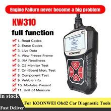 Konnwei KW310 Obd2車診断ツール自動車用スキャナーobd 2エンジンアナライザコードリーダー車両can obdiiスキャンツールテスター