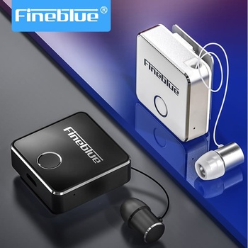 Fineblue Wireless Bluetooth Earphones F1 Withmic Hifi Handsfree Headset TWS Clip for iPhone Android Hi Res Noise Cancelling Mini wireless bluetooth car kit handsfree speaker mp3 music player sun visor clip multipoint noise cancelling for iphone android