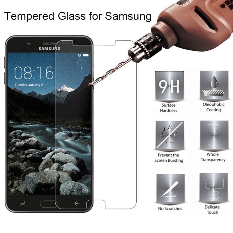 Screen Toughed Glass For Samsung Galaxy J5 2016 J7 Prime 2 Tempered Glass On J3 2015 9H HD Glass For Samsung J730 J7 2017 EU