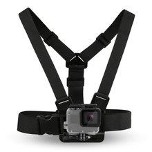 цена на Black Durable Ultra Immersive Adjustable Harness Chest Strap Mount Chest Strap Mount Belt For Gopro Camera