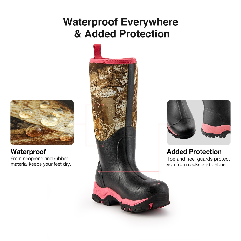 women hunting boot pink 2