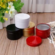 1pcs Mini 50ml Tin Tea Candy Biscuits Cookie Storage Box Round Metal Case Wedding Party Favor Organizer Container Free Shipping(China)