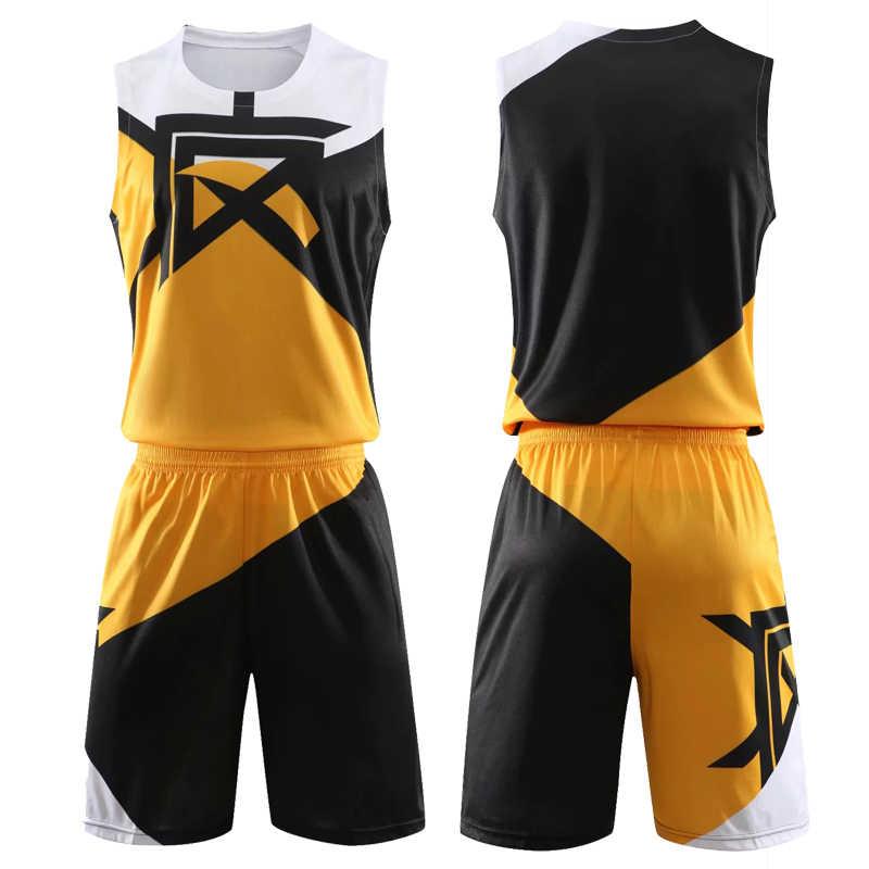 Männer Basketball Jersey Sets Uniformen Jugend Ausbildung basketball trikots shorts Blank Frauen Team Trainingsanzüge Nach Nummer Name