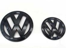 Glanz Schwarz Front Grill Badge Logo und Hinten Stamm Deckel Emblem für EOS 2005-2010 cheap CN (Herkunft) 1inch Volkswagen Embleme