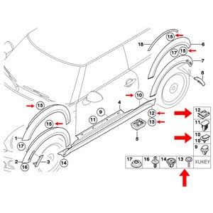 Image 5 - 40pcs Telaio di Protezione Del Motore In Metallo Dado/Vite Rondelle a forma di U Clip di Auto Fender Paraurti Croce Viti A Testa per BMW E46 E92 E90 F10