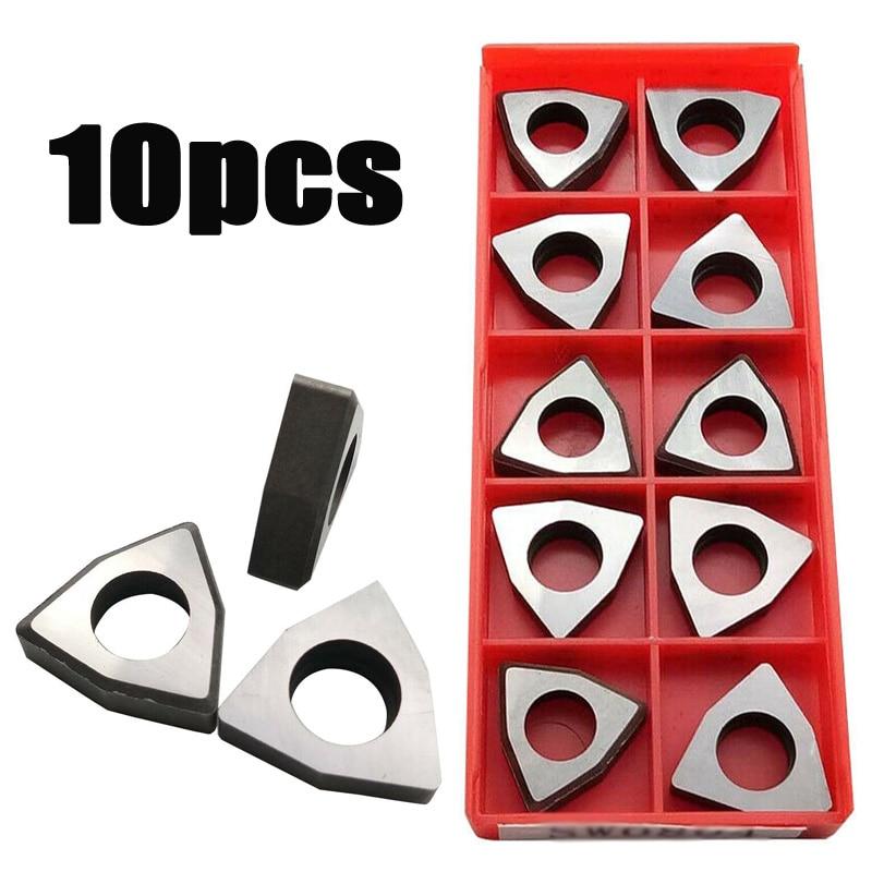 10Pcs Carbide Shim Trigon For WNMG0804 Inserts Turning Power Tools Metalworking