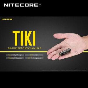 Image 2 - Mini fütüristik NITECORE TIKI/ TIKI LE USB şarj edilebilir ışıklı anahtarlık dahili Li ion pil