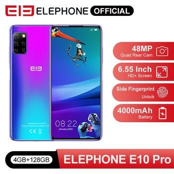 Pre Sale E10 Pro Smartphone 4GB 128GB 48MP Quad Rear Cameras Octa Core NFC 6.55'' HD+ Punch Display 4000mAh Mobile Phone