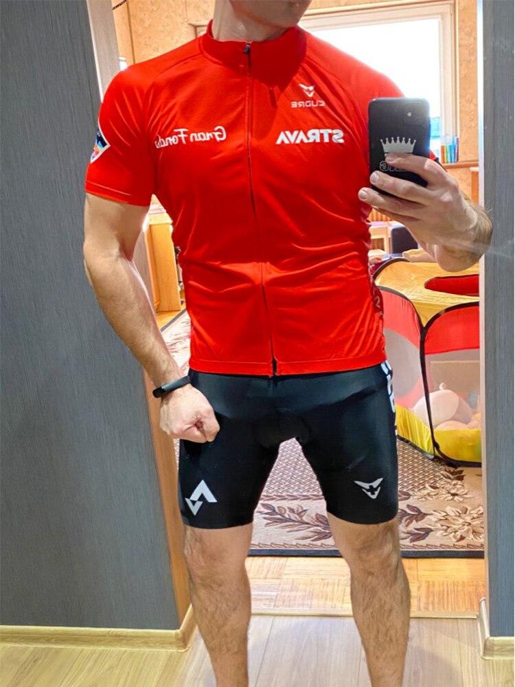 Bicycle Clothing Shorts Shirt Cycling-Jersey-Set Bike-Bib STRAVA Pro-Team Summer Men