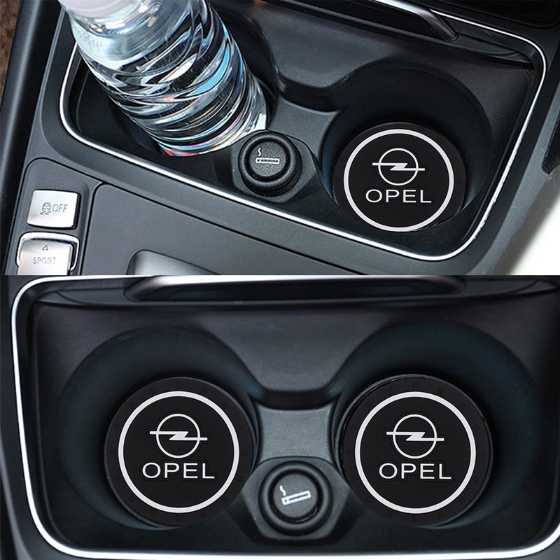 1 / 2pcs Car Coaster Decoration Accessories Water Cup Slot Case For Opel Astra H G J Insignia Mokka Zafira Auto Car Styling