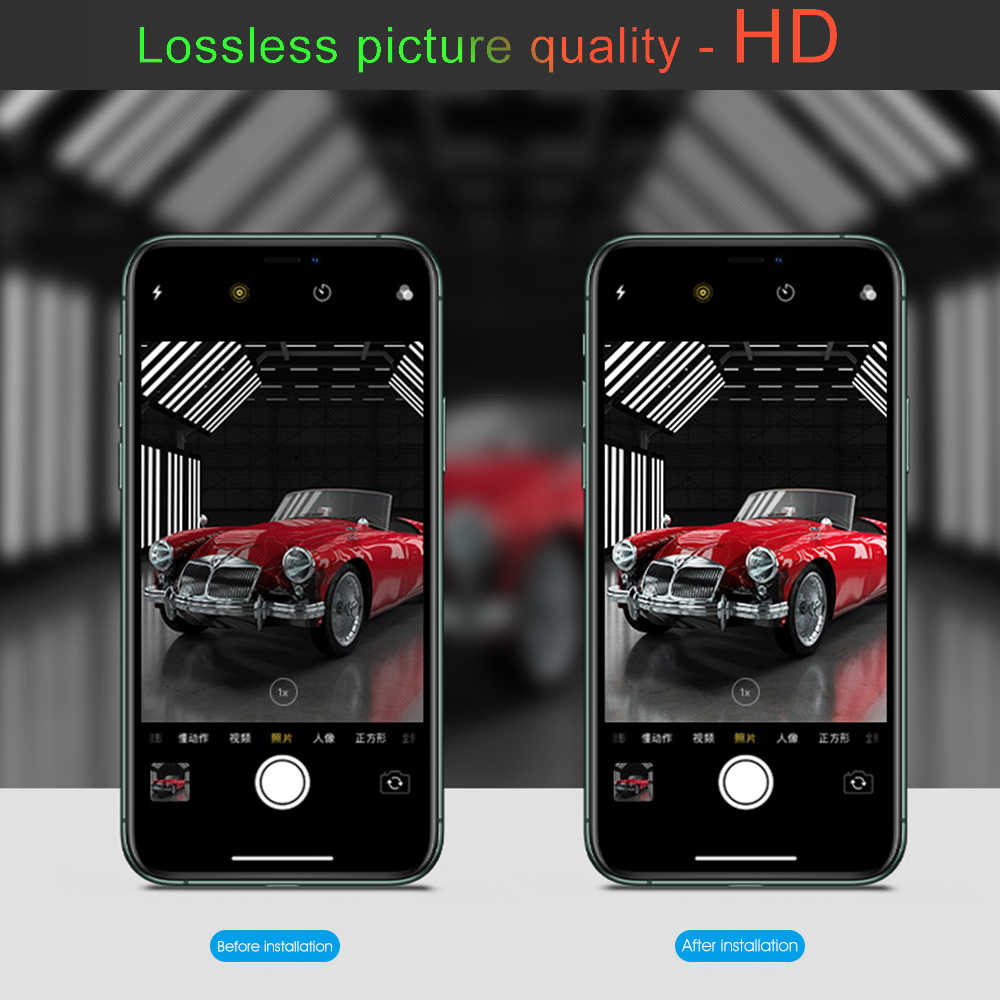 Dla iPhone 11 Pro Max osłona na kamerę obudowa na iPhone 11 2019 11 Pro 11Pro metalowy tylny obiektyw aparatu pierścień ochronny