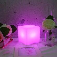 Square Smart Night Light Color Change USB Charging 5V AlexaEcho GoogleHome Phone IFTTT Control LED Lamp APP Night Lighting