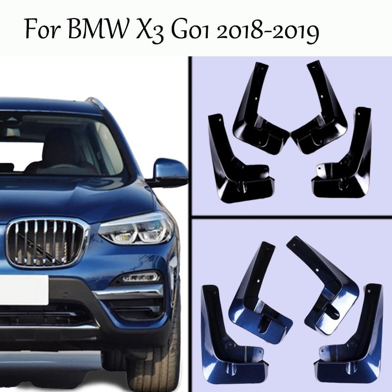 For 2018-2019 BMW X3 G01 Splash Guards Mud-Flaps Front & Rear Mudguards Mudflaps Car Fenders