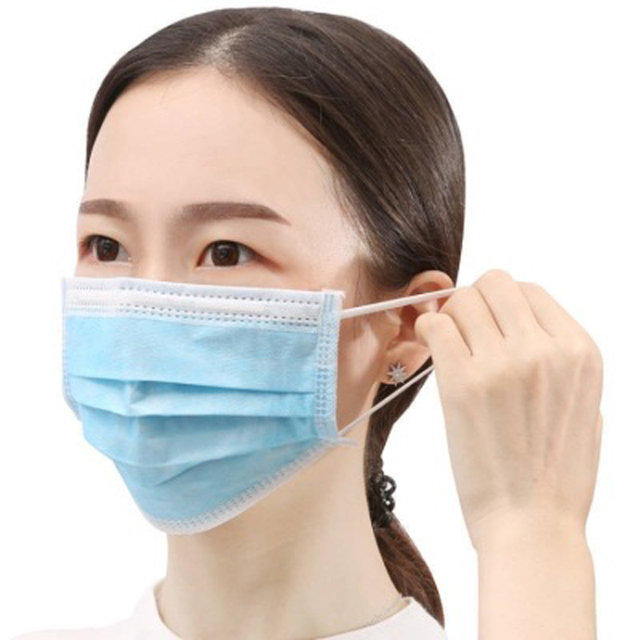 100Pcs Mask 3Ply Nonwoven Disposable Elastic Prevent Flu Hygiene Filter Mask Facial Protective Fabric Mouth Mask Anti Pollution 5