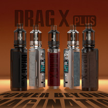 VOOPOO Drag X Plus – Kit de dosettes 100W, 5.5ml, réservoir en TPP, bobines, batterie 18650/21700, vapoteur, Mod de Cigarette électronique 5V/2A, type-c