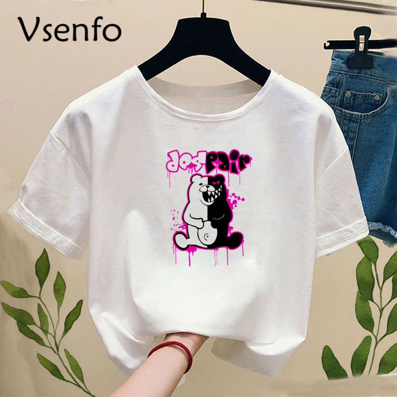 Janpan Anime Kokichi Oma T-shirt With Print Women Fashion Truth And Lies Game Funny Graphic Tee Shirt Casual Short Sleeve Tops