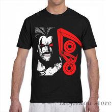 Lobo logo masculina camiseta feminina toda impressão moda menina t camisa menino topos camisetas de manga curta