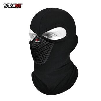 Winter Motorcycle Full Face Mask Fleece warm Cover Windproof Balaclava mask Hat Neck Warmer Helmet Skiing face shield