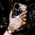 Модный бриллиантовый прозрачный противоударный чехол для телефона iPhone 12pro 11promax 11 12 x xsmax xr 6 7 8 plus