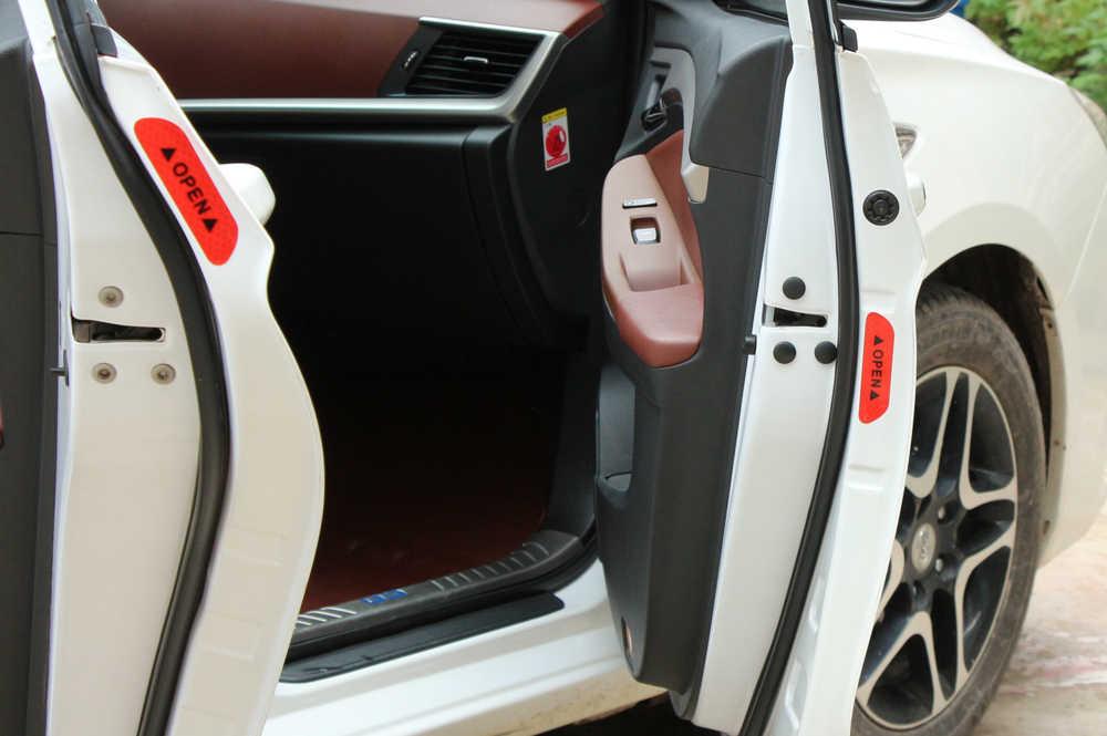 Znak ostrzegawczy bezpieczeństwa w nocy drzwi naklejki dla ford Focus 2 3 Fiesta Mondeo Kuga Citroen C4 C5 C3 Skoda Octavia 2 A7 A5 szybkiego