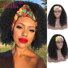Headband Wig Human-Hair Kinky Curly Black Women Ruiyu for 10--26 Easiest Beginners