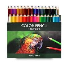 Venda quente 48/72 cores lápis de cor de madeira lápis lápis de pintura a óleo para a escola desenho esboço arte suprimentos