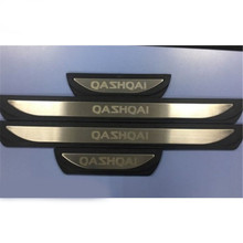 For Nissan Qashqai J11 2016 2017 2018 2019 Stainless Door Sill Scuff Plate Protector Trim Guard Kick Pedal Car Styling Accessory