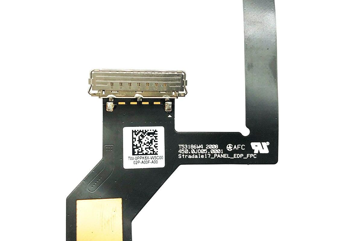全新戴尔DELL XPS 17 9700  屏线 排线LED EDP LVDS VIDEO CABLE 0PPK6X PPK6X T53186W4 2008 450.0JD05.0001 Stradale17 Panel EDP FPC
