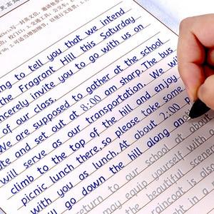 3 шт. английская Курсив Groove тетрадь для практики многоразового использования почерк практика каллиграфия книга Английский алфавит слово мо...