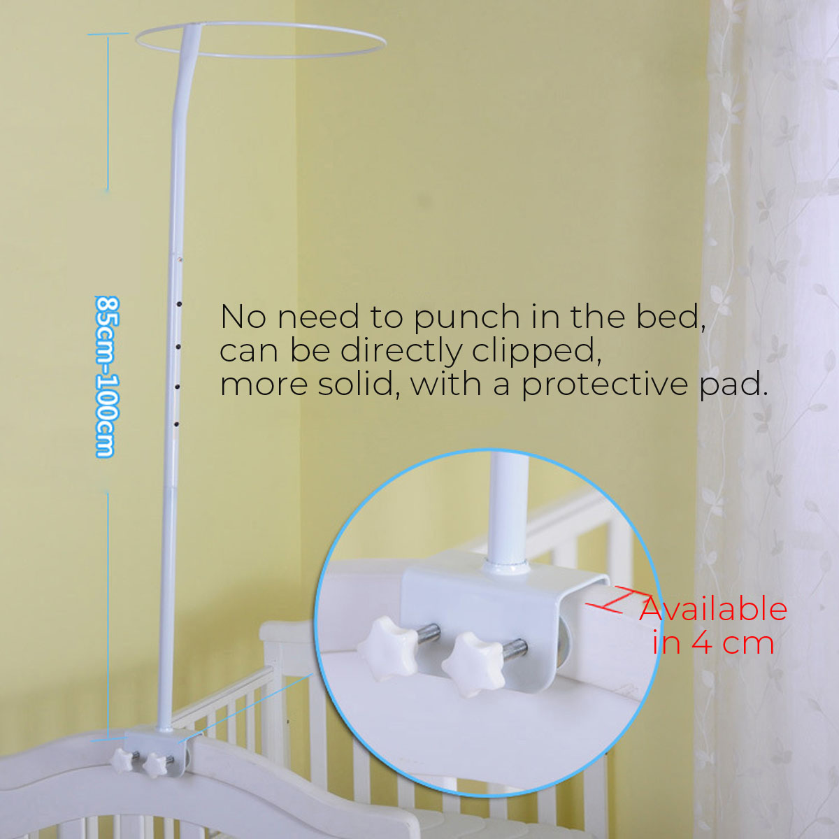 verao ajustavel mosquito net suporte berco net 01