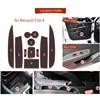 Anti-Slip Gate Slot Cup Mat for Renault Clio 4 Door Groove Non-slip Pad Interior car-styling accessories Coaster promo
