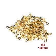 100 шт./компл. неизолированный кольцевой кабель M3 M4 M5 M6, наконечники, клеммы, ассорти, неизолированный разъем, проводной кабель, соединители, л...