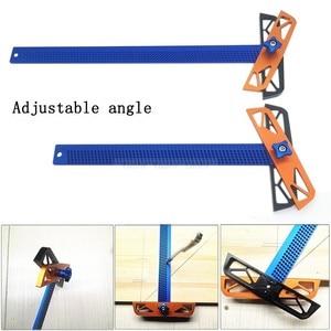 Image 2 - 300/400mm Adjustable angle Woodworking T Ruler Hole Positioning Crossed Marking Gauge Aluminum Alloy Scriber Measuring Tool