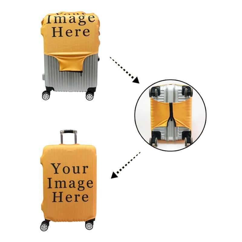 3Dผีเสื้อกระเป๋าเดินทางกระเป๋าเดินทางยืดหยุ่นป้องกันครอบคลุม 18-32 ''รถเข็นสัมภาระTrunkกรณีฝุ่นอุปกรณ์เสริม