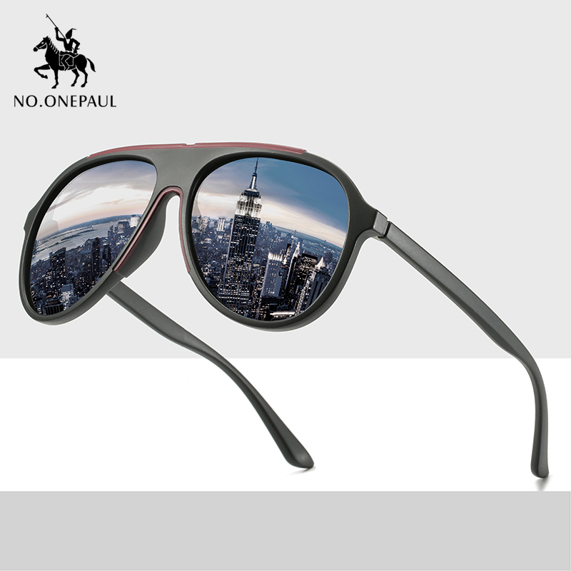 NO.ONEPAUL Driving Square Style Sun Glasses Male Goggle UV400 Fishing Eyewear Men Metal NEW Polarized Sunglasses Men