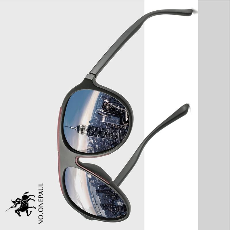 NO.ONEPAUL Driving Square Style Sun Glasses Male Goggle UV400 Fishing Eyewear Men Metal NEW Polarized Sunglasses Men