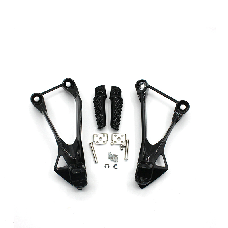 Motorcycle Foot Peg Black Stylish Metal Motorcycle Motorbike Frame Foot Pegs Rests Pedals